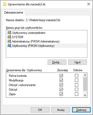 Zmiana uprawnień użytkownika systemu Windows