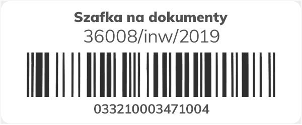 Etykieta z kodem kreskowym do inwentaryzacji