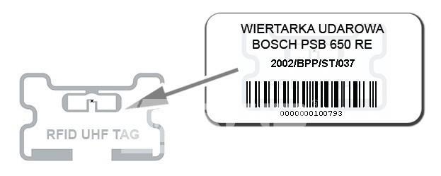 Etykieta inwentaryzacyjna RFID do zadruku
