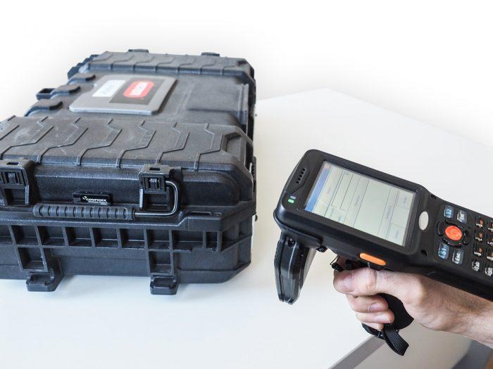 kolektor danych RFID UHF do inwentaryzacji majątku, inwentaryzator, terminal mobilny