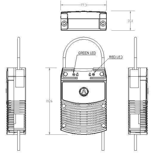 PWSK-E561B - aktywny tag RFID 2.4GHz RTLS
