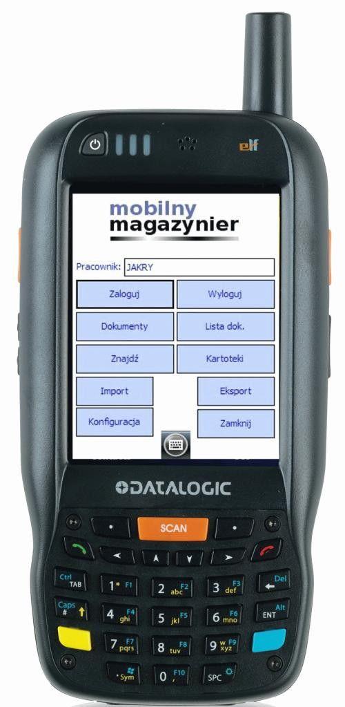 Mobilny Magazynier kolektor danych