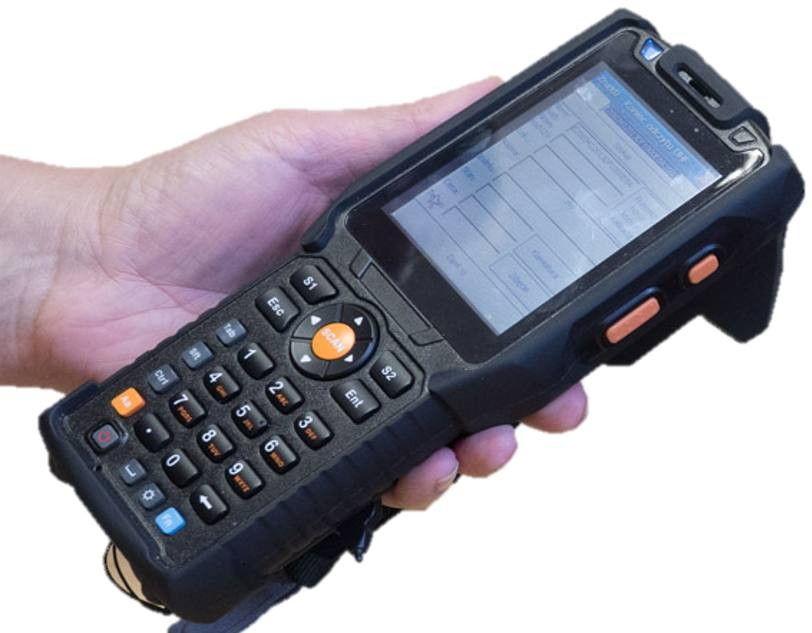 Czytnik RFID UHF z dodatkowym skanerem kodów kreskowych