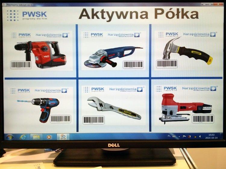 Aktywna półka RFID - prezentacja podczas targów EUROTOOL w Krakowie