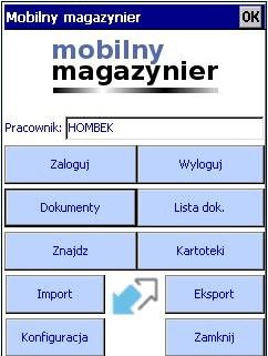 zastosowanie kolektora danych w magazynie - mobilny magazynier , aplikacja mobilna