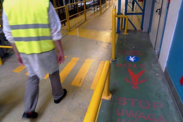 blokada kolizji pracowników z pojazdami