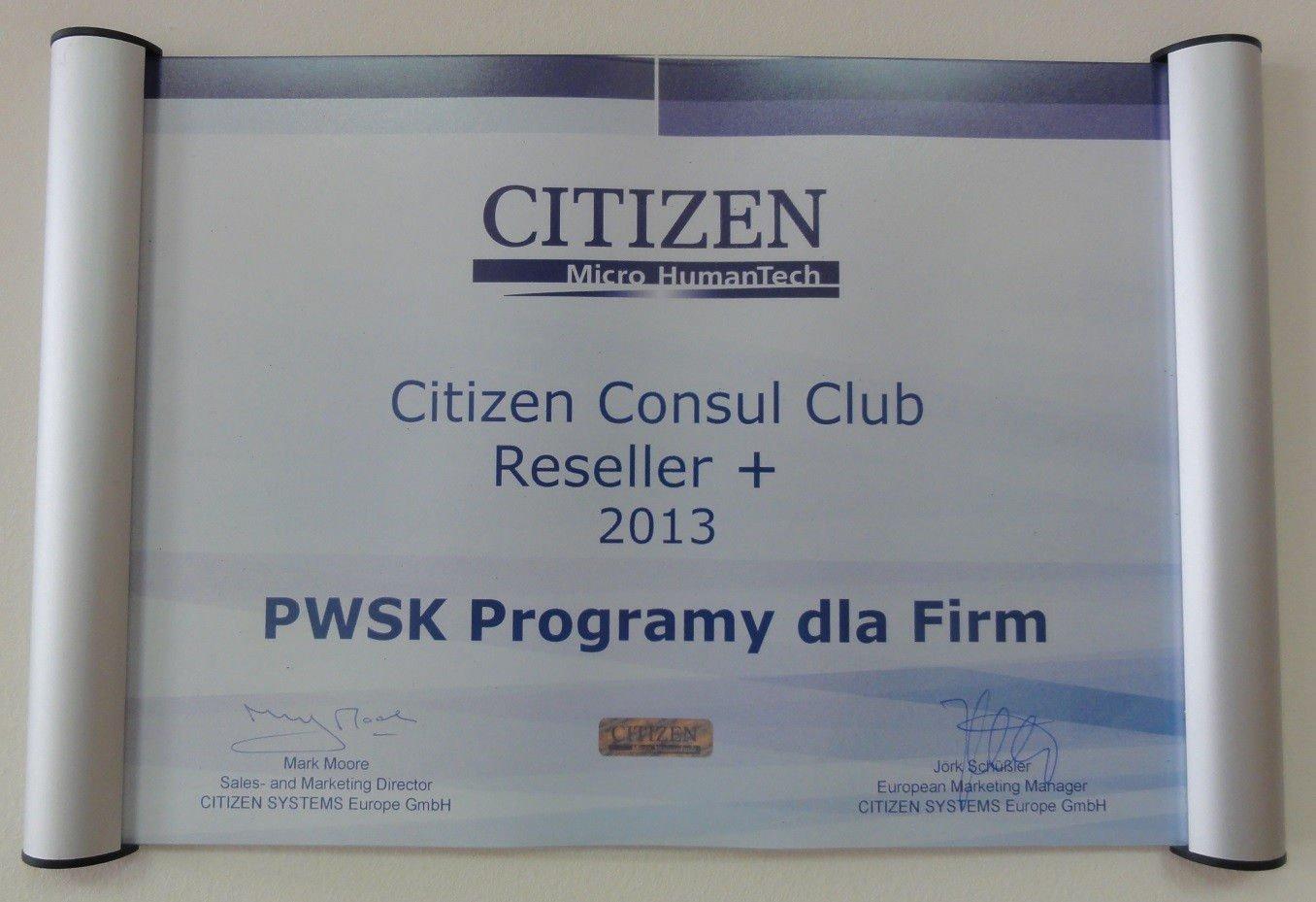 Certyfikat Citizen dla PWSK