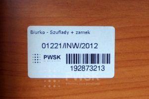 etykieta inwentaryzacyjna