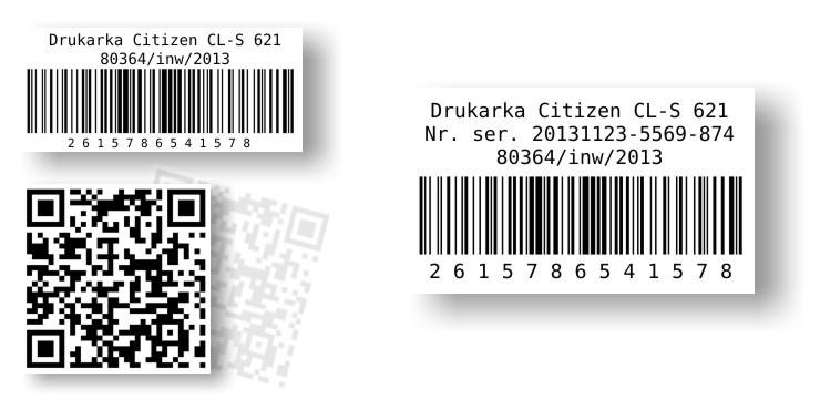 etykiety samoprzylepne kodów krewskowych -1d-i-2d