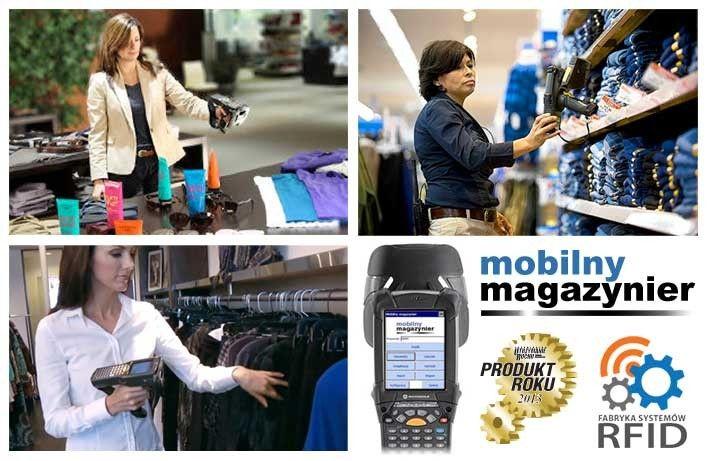 inwentaryzacja w sklepie detalicznym, handlu, hurtowni, ubrań, towarów RFID