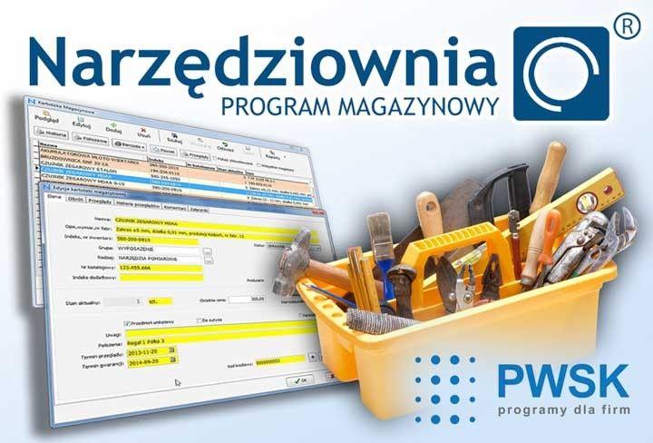 magazyn narzędzi, gospodarka narzędziowa, narzędziownia, program magazynowy
