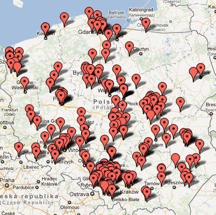 mapa klientów PWSK