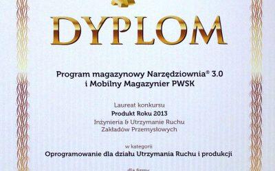 Program Narzędziownia oraz Mobilny Magazynier PWSK zdobył tytuł Produkt Roku 2013
