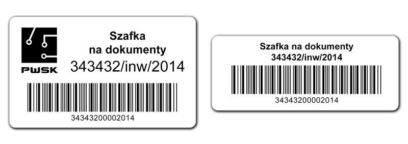 Etykiety do oznaczania środków trwałych