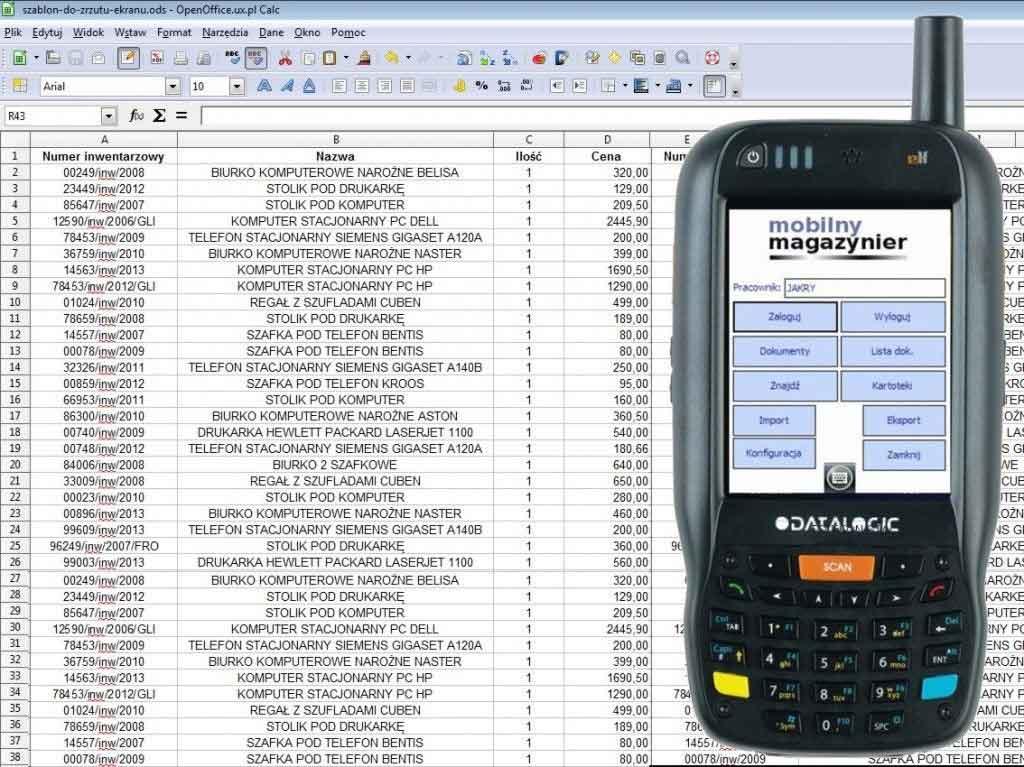 aplikacja mobilna magazynowa, program magazynowy terminal mobilny