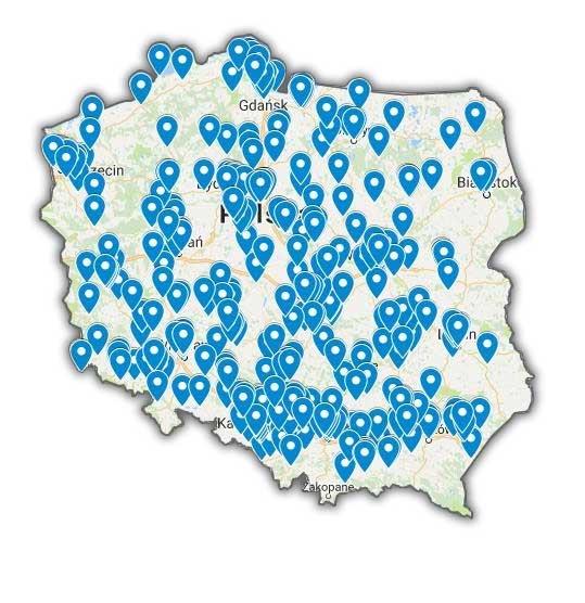 Mapka klientów programu narzędziownia