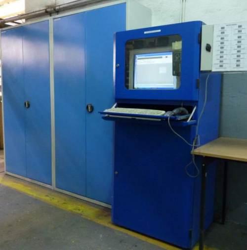 Szafy Narzędziowe, magazyn narzędzi CNC autoryzowany kartą zblizeniową RFID